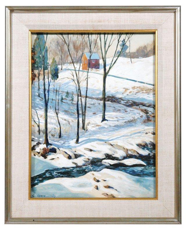 Winter Stream by K. Weice