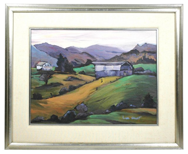 Barn in the Valley by Linda Wright