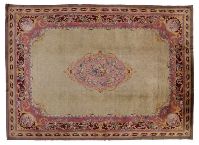 Savonnerie French Rug, 16' x 11'6""