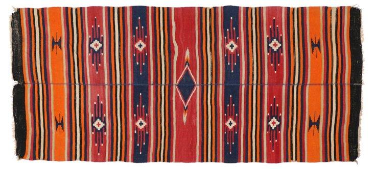 "Kilim Persian Flat Weave, 10'9"" x 4'10"""