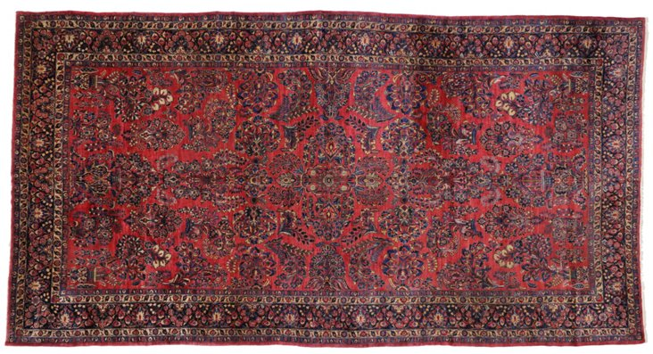 "Antique Persian Sarouk, 19'6"" x 10'6"""