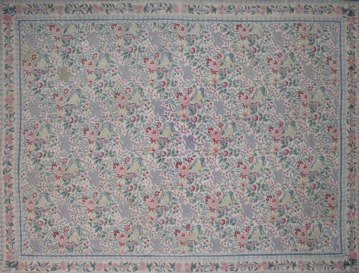 "Indian Chain-Stitch Rug, 11'9"" x 9'1"""