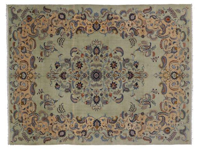 Persian Kashan w/ Boteh, 13' x 9'10