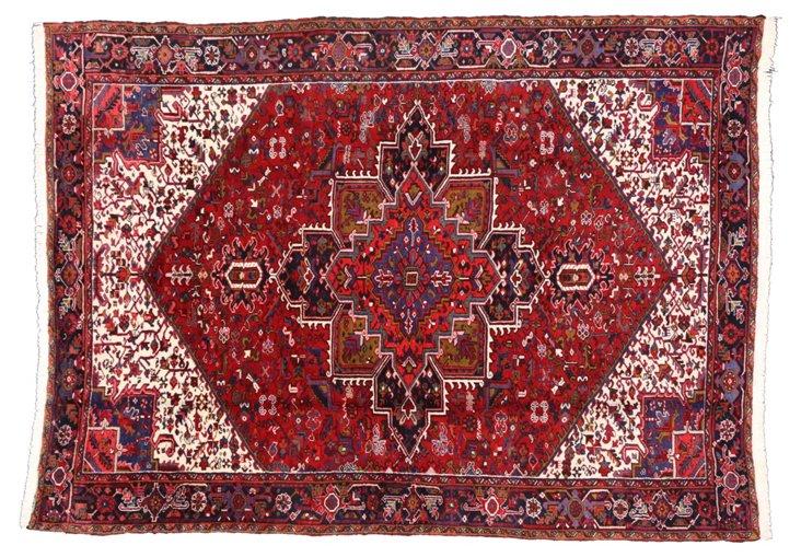 """Heriz Persian Area Rug, 12'1"""" x  8'10"""""""