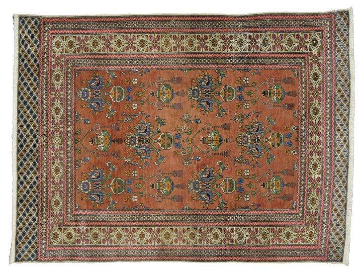 """Persian Turkmen Rug, 4'2"""" x 5'7"""""""