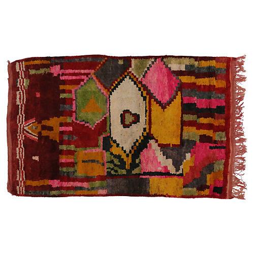 "Berber Moroccan Tribal Rug, 5'3"" x 8'1"""