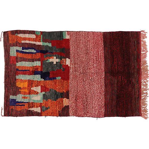 "Berber Moroccan Abstract Rug, 5'1"" x 8'"