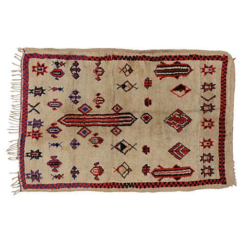 "Berber Moroccan Tribal Rug, 4'8"" x 6'9"""