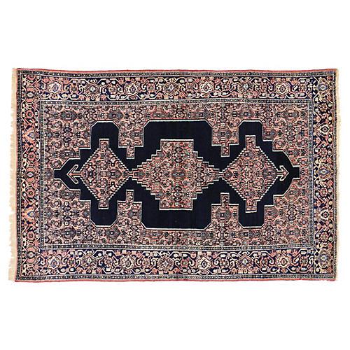 "Antique Persian Senneh Rug, 4'4"" x 6'9"""