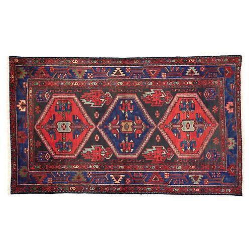 "Persian Hamadan Tribal Rug, 4' x 6'9"""
