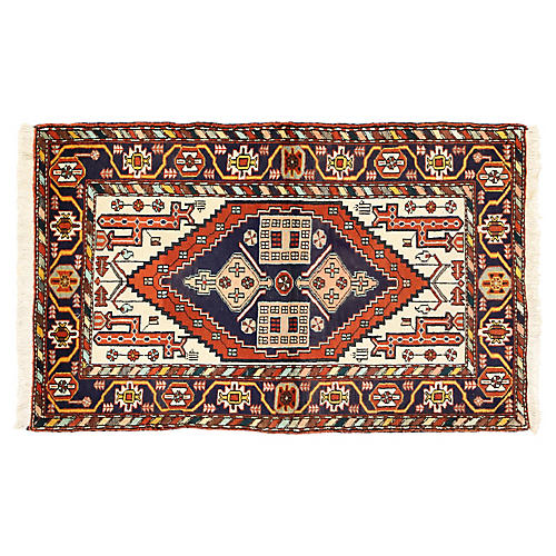 "Persian Heriz Tribal Rug, 3'7"" x 5'6"""