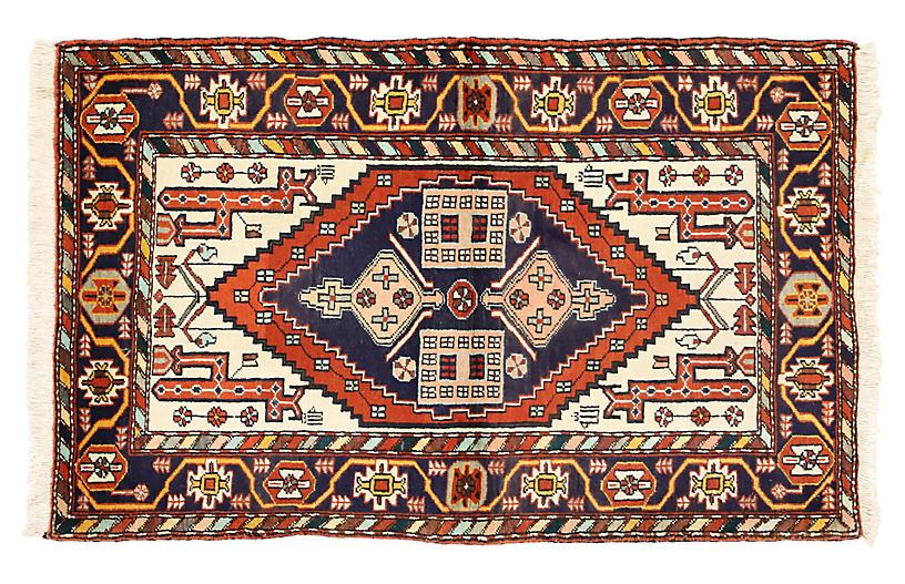 Persian Heriz Tribal Rug, 3'7