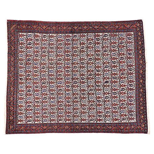 "Antique Persian Afshar Rug, 5'1"" x 6'3"""