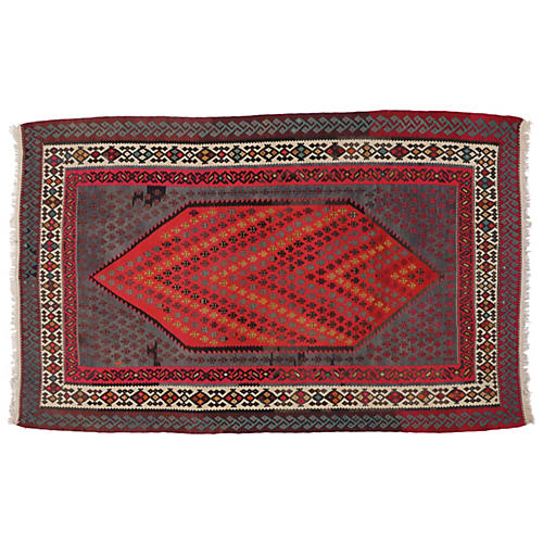 Persian Tribal Kilim, 6'2 x 9'7