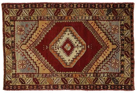 Turkish Oushak Rug, 3'9 x 5'6