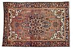 Persian Heriz Rug, 4'9 x 6'10