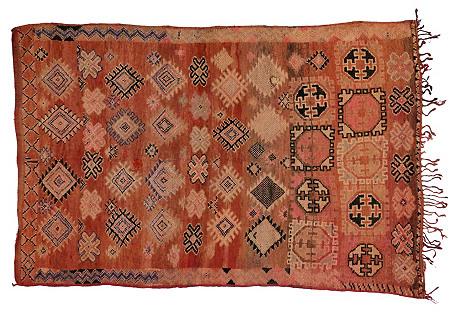 Berber Moroccan Tribal Rug, 5'7