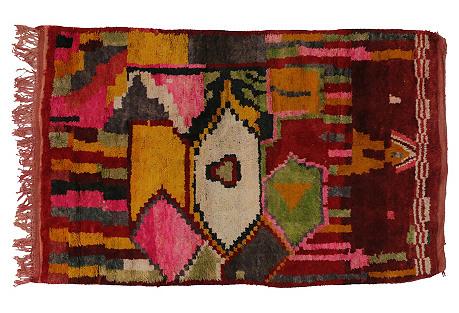 Berber Moroccan Tribal Rug, 5'3