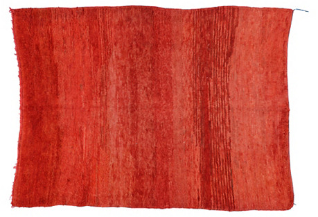 Berber Red Moroccan Rug, 6' x 7'11