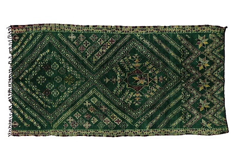 Beni Ourain Moroccan Rug, 6'3