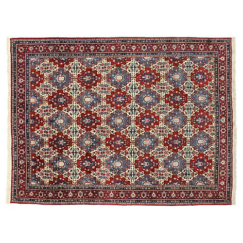 """Hand-Knotted Moud Rug, 9'5"""" x 12'6"""""""