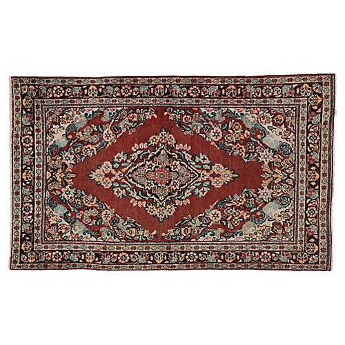 """Persian Mahal Rug, 4' x 6'6"""""""