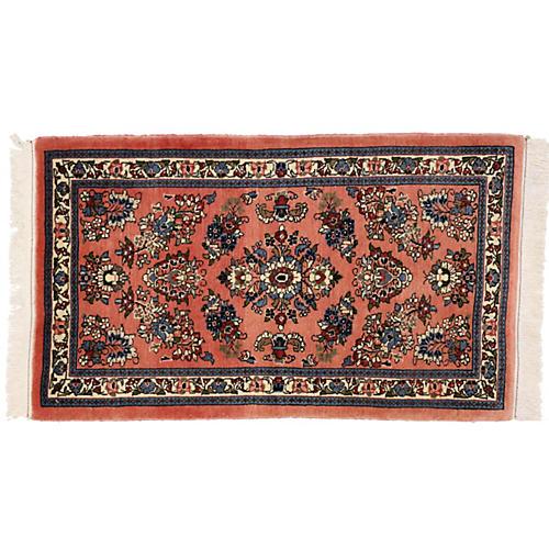 """Persian Sarouk Rug, 2'3"""" x 3'9"""""""