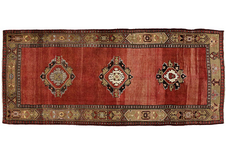 Turkish Oushak Gallery Rug - 5'5 x 12'