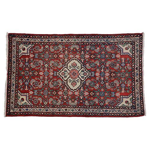 Persian Hamadan Rug - 2'5 x 3'10