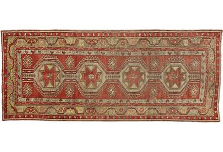 Turkish Oushak Gallery Rug, 5'5 x 12'10