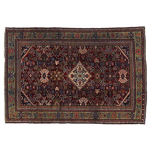 Persian Mahal Antique Rug, 6'9 X 10'2