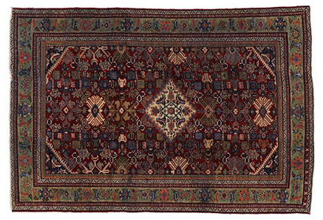 Persian Mahal Antique Rug, 6'9 X 10'2