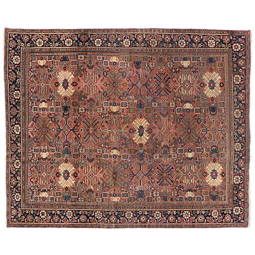 Persian Mahal Antique Rug, 10'2 x 11'10