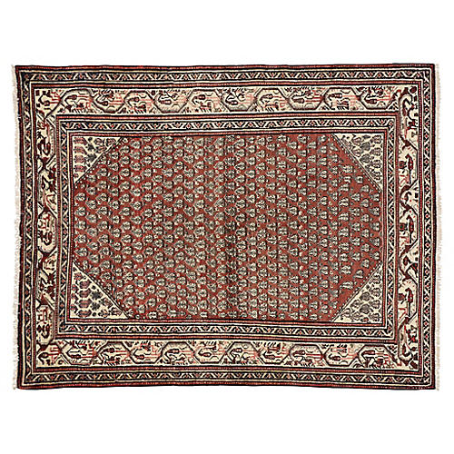 "Antique Persian Hamadan Rug, 5'2"" x 6'8"""