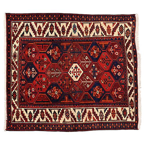 """Persian Bakhtiari Rug, 6' x 6'7"""""""