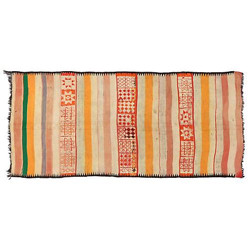 "Berber Wool Kilim, 5'4"" x 11'10"""