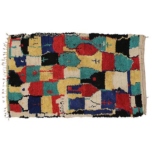 """Moroccan Berber Rug, 4'6""""x7'"""
