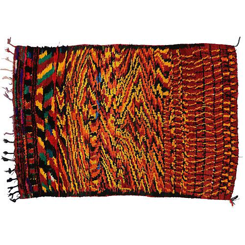 """Moroccan Berber Rug, 5'1""""x7'6"""""""