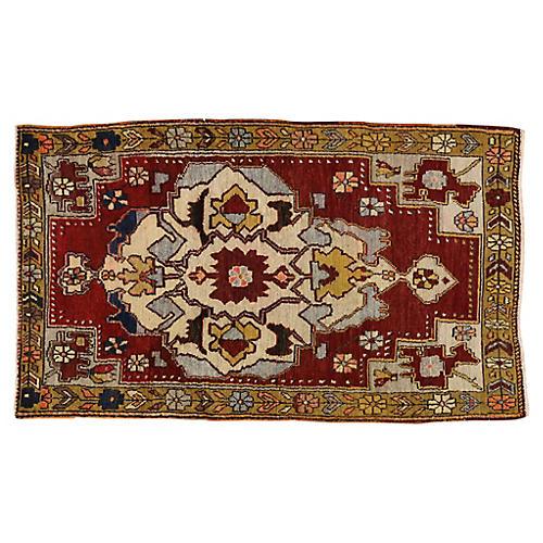 Vintage Turkish Oushak Rug, 3'7x6'1