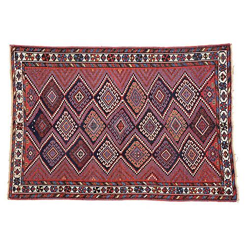 "Persian Afshar Rug, 4'3"" x 6'"