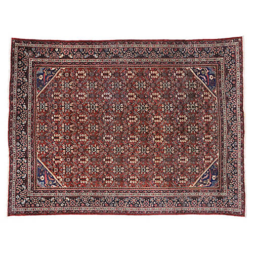 "Antique Persian Mahal Rug, 10'4"" x 13'9"""