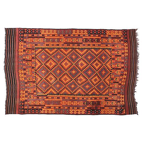 """Afghani Tribal Kilim, 9'9"""" x 15'"""