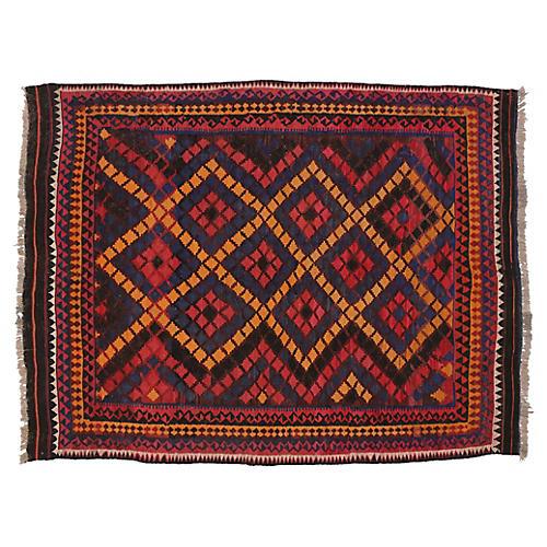 "Afghan Tribal Kilim, 7'2"" x 9'4"""