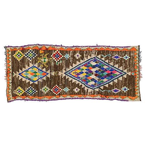 """Vintage Moroccan Rug, 2'11"""" x 7'2"""""""