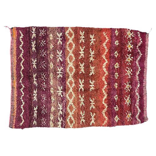 """Moroccan Berber Rug, 5'8"""" x 7'4"""""""