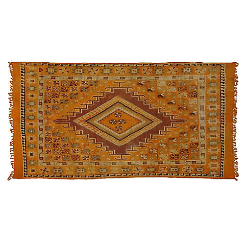 "Orange Moroccan Rug, 5'7"" x 9'10"""