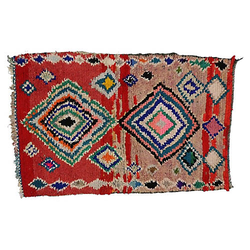 Vintage Berber Moroccan Rug, 3'4 x 5'