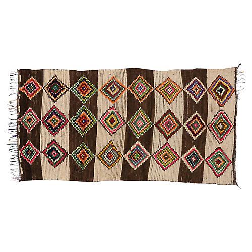 Berber Moroccan Azilal Rug, 4'10 x 9'4