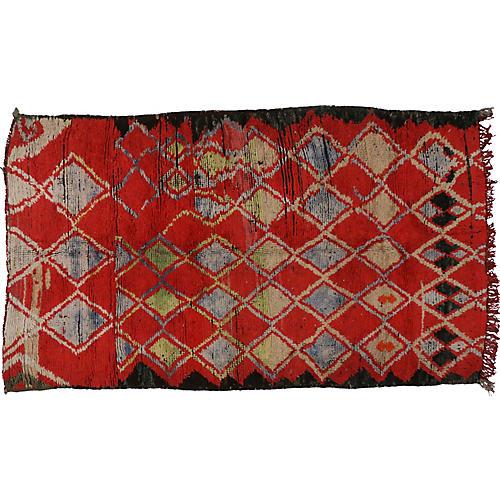 "Moroccan Rug, 4'4"" x 7'4"""