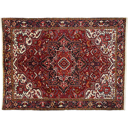 "Persian Heriz Rug, 8' x 11'6"""